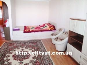 квартира на 1 комнату, Парковая, кроваь и большой диван